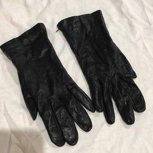 Vintage Genuine Black Leather Gloves